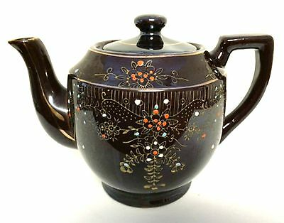 Japan Redware Brown Betty Teapot Vintage Ceramic Tea Pot 5.75 inches Tall