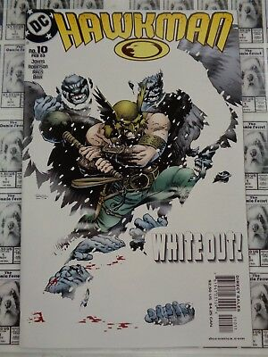 Hawkman (2002) DC - #10, Whiteout, Hawkgirl, Johns/Morales, VF