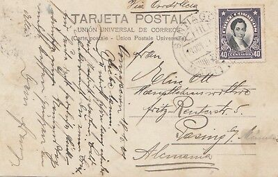 Chile: 1929: photo post card Santiago to Pasing/Germany