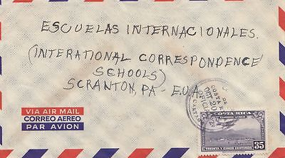 Costa Rica: 1954: Air Mail San Jose to Scranton