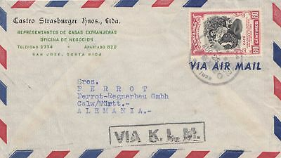 Costa Rica: 1952: San Jose via KLM to Calw/Germany