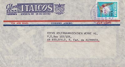 Costa Rica: 1970: San Jose to Bielefeld - Olympia Stamp