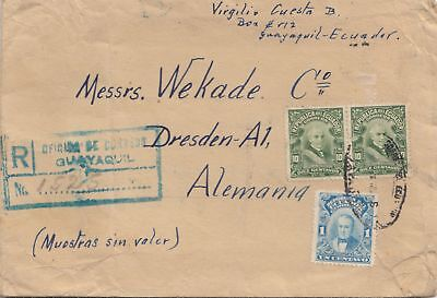 Ecuador: 1926: Registered Guayaqil to Dresden