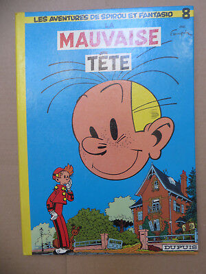 """FRANQUIN SPIROU & FANTASIO """" Mauvaise tete  """" EO 1975 Réed dos rond TBE"""