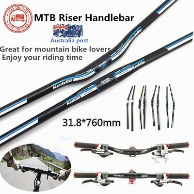 760mm Lightweight MTB Mountain Bike Riser Handlebar Carbon Fiber Handle Tube  WX
