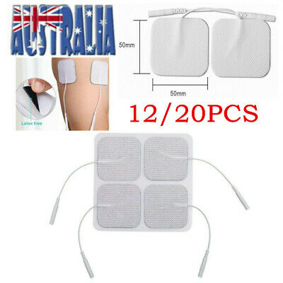 12/24X TENS Machine Massagers Replacement Electrode Pads Self-Adhesive 5*5cm AU
