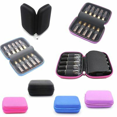 10 Roller Bottles 10ml Essential Oil Case Carry Holder Storage Aromatherapy Bag