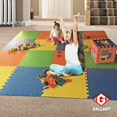 Kids Eva Foam Play Area Soft Mats Interlocking Large Tiles Exercise Gym Outdoor