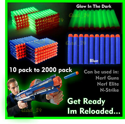 20-1000PC Soft Refill Bullets Darts Round Head Gun Blaster Nerf N-strike Kid Toy