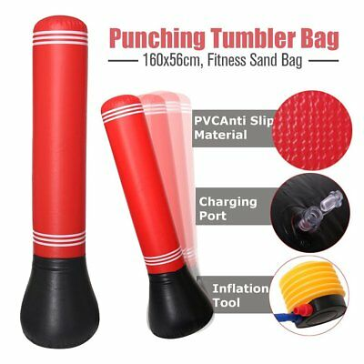 160Cm Free Standing Punching Bag Boxing Stand Dummy Martial Home Gym Target Wx