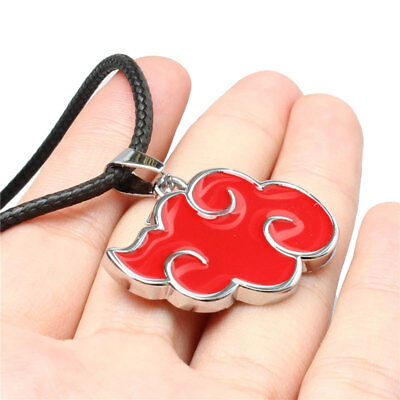 Anime Naruto Akatsuki Red Cloud Accessory Metal Pendant Necklace Cosplay Gift