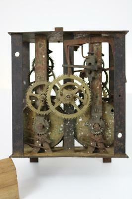 ANTIQUE CLOCK MOVEMENT heavy iron frame and skeletonised gearing FRENCH ?