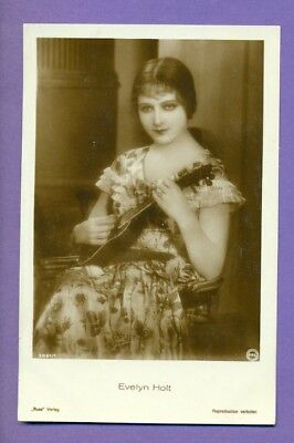 MOVIE STAR Woman EVELYN HOLT Plays Guitar VINTAGE PC. 2483