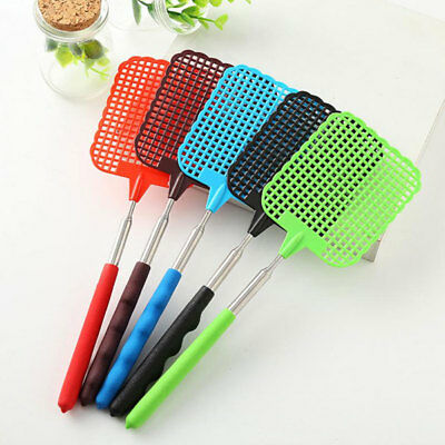 5x Plastic Telescopic Extendable Fly Swatter With Long Handle Killer Insect Tool