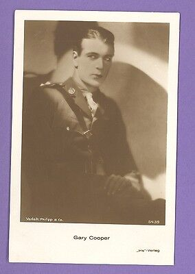 Gary Cooper # 5439 Vintage Photo Pc. Publisher Germany 946