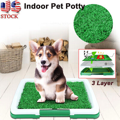 Pet Dog Potty Toilet Urinary Trainer Grass Mat Pad Patch Home Indoor Outdoor US