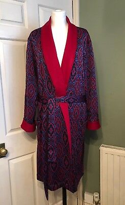 Vintage 1960s St Michael Mens Tricel Dressing Gown Retro 42 M L Marks & Spencer