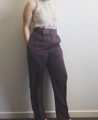 vintage high waisted Belted pants Size 8/10