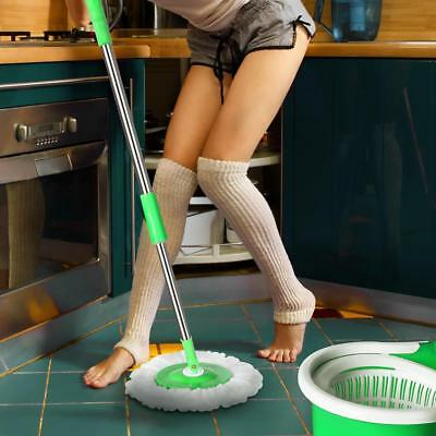 Stainless Steel 360°Spin Mop & Bucket Set Foot Pedal Rotating Magic Floor Mop