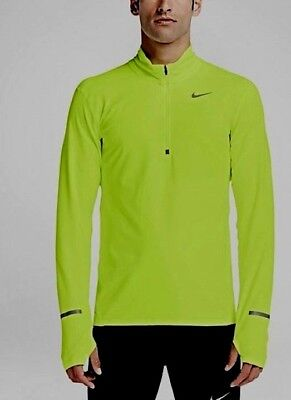 7ca6b600bd928 NIKE WOMENS PALE Green Long-sleeved Dri Fit Half Zip Pullover Size L ...