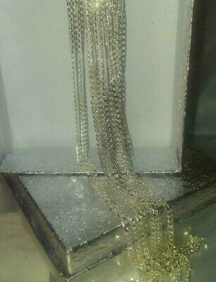"Beautiful, Silver  2 mm Curb Chain Necklace & gift bag. 30"" long."