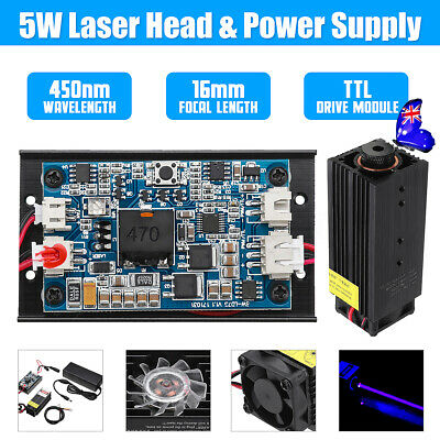 DC12V 5W Laser Head Engraving Module For Engraver Marking Wood Cutting With TTL
