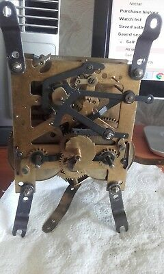 antique clock movement 2 winder half and full hour chime