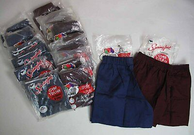 17 Pair 1960's Dead Stock Fruit Of The Loom & Springfoot Gym Shorts All Sizes