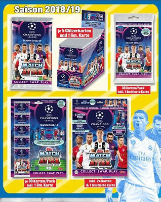 Topps Champions League 2018-2019-Starterpack-Booster-Display-Multipack-Blister