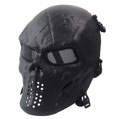 Face Mask Ghost Tactical Outdoor Military CS Wargame Paintball Full Face Mask WO