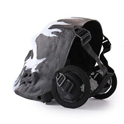 Face Mesh Mask Ghost Tactical Outdoor Military CS Wargame Paintball Face Mask WO