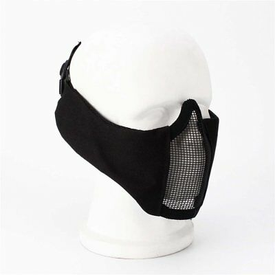 V12 Steel Wire Mesh Half Face Mask Ear Guard Tactical Protective Mask WO