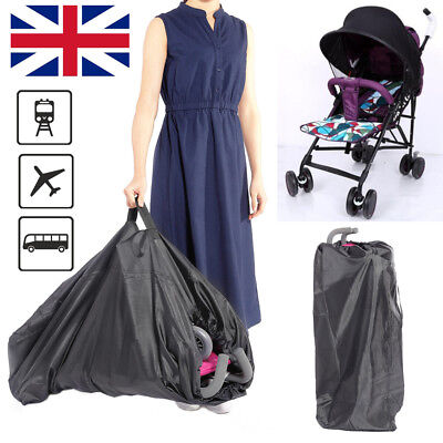 Gate Check Pram Travel Bag Umbrella Stroller Pushchair Buggy Waterproof Cover UK