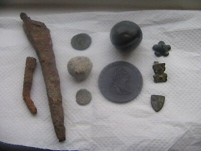 Interesting  Group   Of   Roman  And  Medieval  Detecting   Finds.