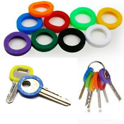 32Pcs/Set Coloured KEY TOP COVERS Head Caps Tags ID Markers MIXED TOPPERS