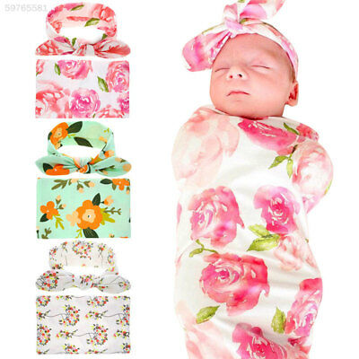 D7BE Care Mother Baby Swaddle Cute with Headwear Suit Infant Newborn Prop