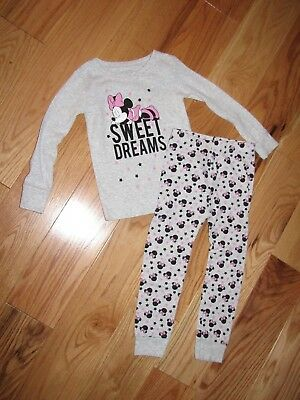 disney   -- girls size 4t---2 piece Minnie mouse -- pajama set /EUC
