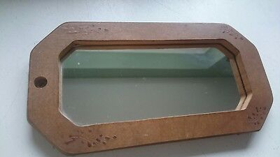 Small Wooden Shaving Mirror French