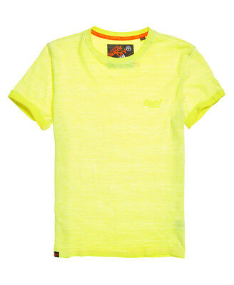 74b0f088fe60ce NEUES HERREN SUPERDRY Orange Label Low Roller T-Shirt Fluro Gelb ...