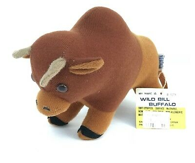 NICE Dream Pets Plush Wild Bill Buffalo Vintage W/tags! Dakin