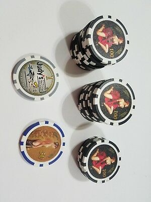 25 JUDY'S COYOTE SPRING RANCH Brothel $100 FANTASY CHIPS  and 1 50 and 1 dollar