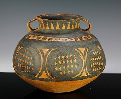 Antique Ancient Chinese Painted Yangshao Pottery Jar Vase - 2000 Bc