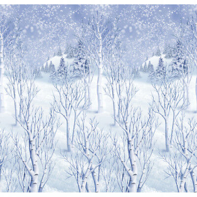 40ft Christmas Winter Wonderland Scene Setter Room Roll - Party Wall Decorations
