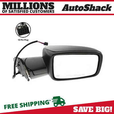 Black Power Heated Folding Passenger Right Side Mirror for 2011-2012 Ram 1500