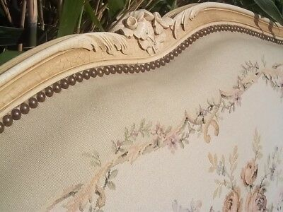 Elegant Vintage French  Antique King Size Louis Xv Style Headboard