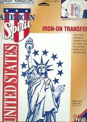 Statue of Liberty Daisy Kingdom Iron on Transfer  Collectible
