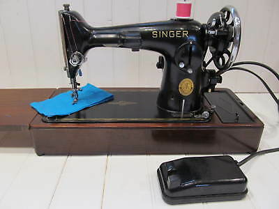 Classic vintage singer sewing sowing machine 201K electric heavy duty portable