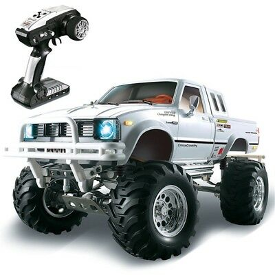 HG P407 1/10 2.4G 4WD 3CH Brushed Rally Off-Road RC Car Metal Pickup Truck RTR