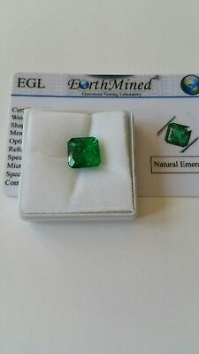 New Natural Colombian Gem Stone Square Cut 8.5 Carat Certified Egl