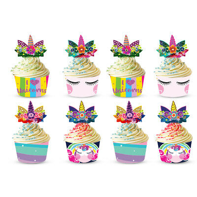 12X 3D Animals Cake Wrapper Cupcake Toppers Paper Box Cup Case DIY Baking Acces